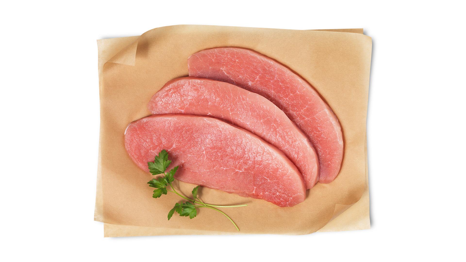 Hofstädter Schweinsschnitzel geschnitten