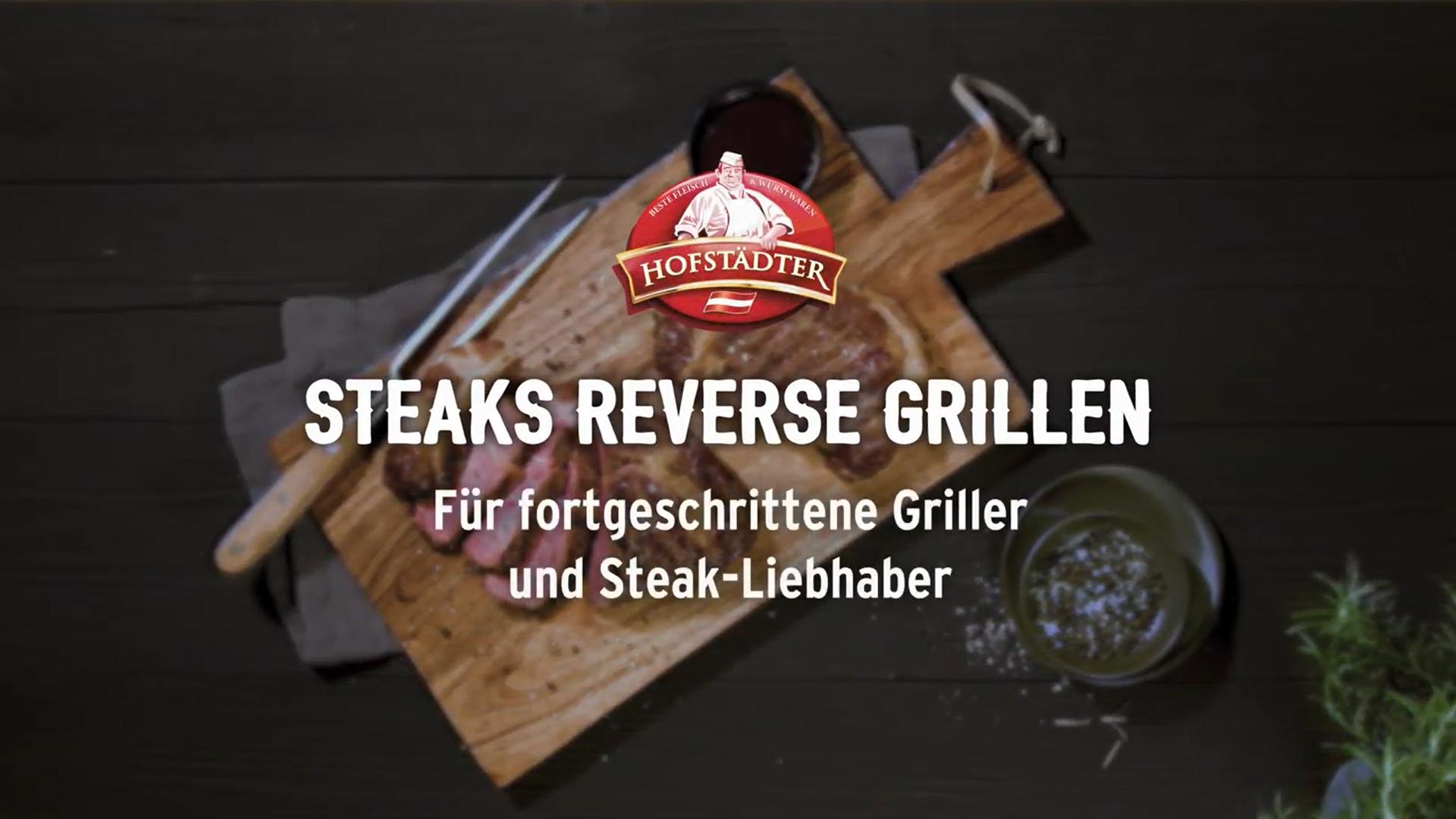 Steaks reverse grillen
