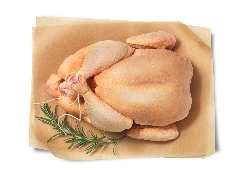 Hofstädter Huhn im Ganzen