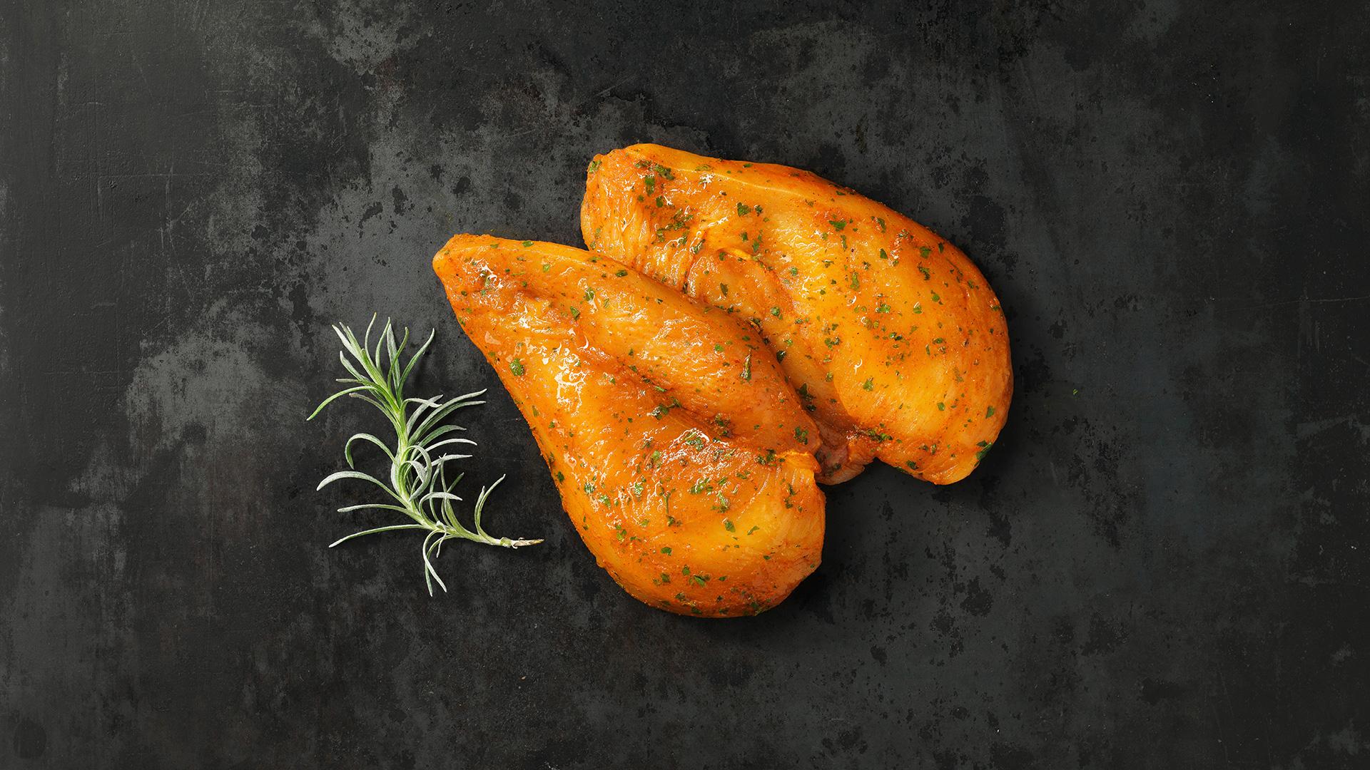 Hofstädter Hühnersteak mit Curry Marinade