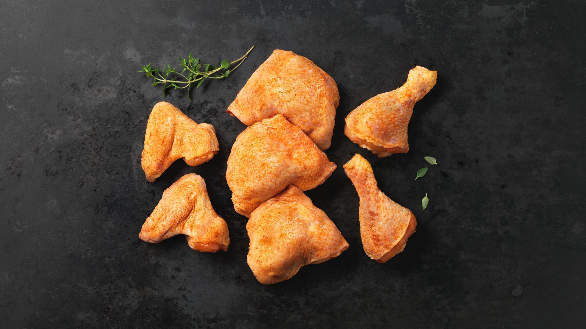 Hofstädter Hühner Grillteller gewürzt