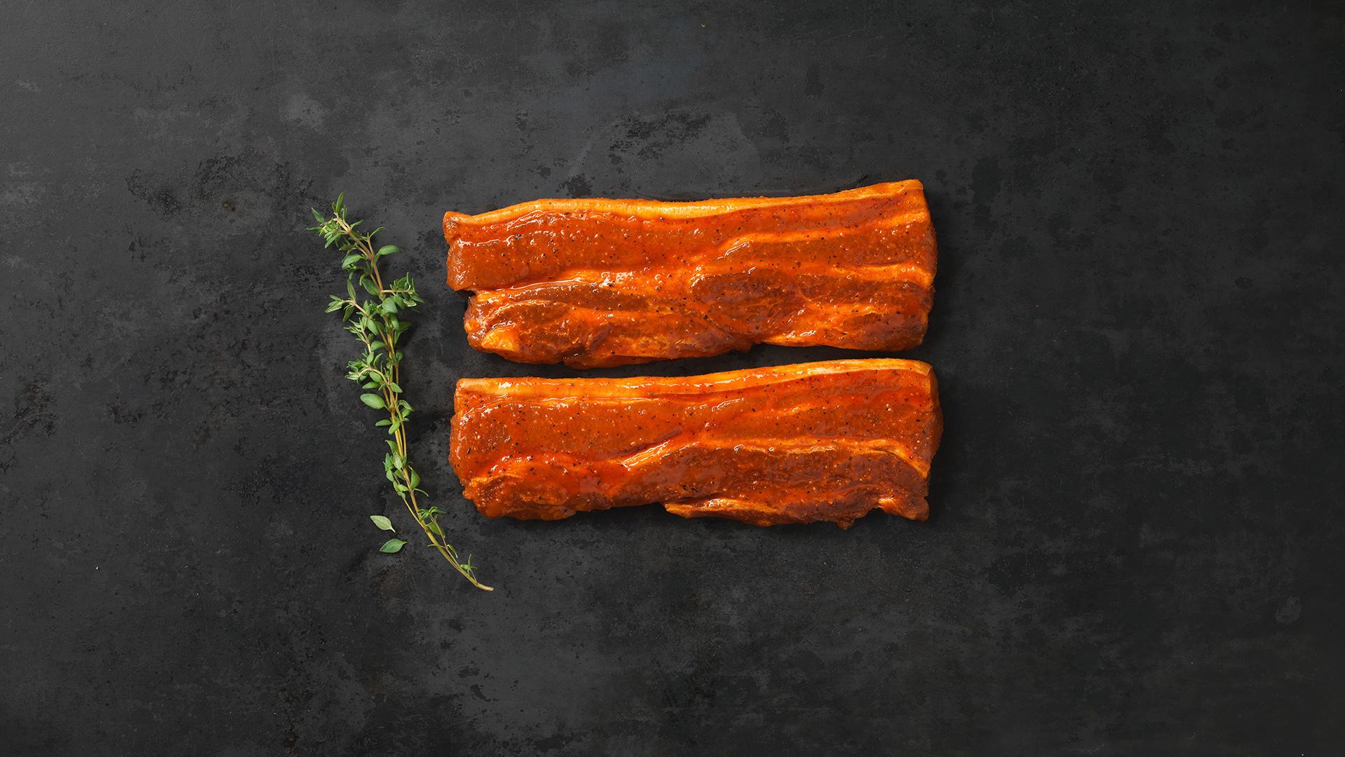 Hofstädter Bauchfleisch mariniert mit BBQ Marinade