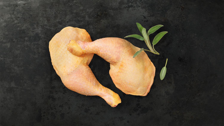 Kerntemperaturen Hühnerkeule