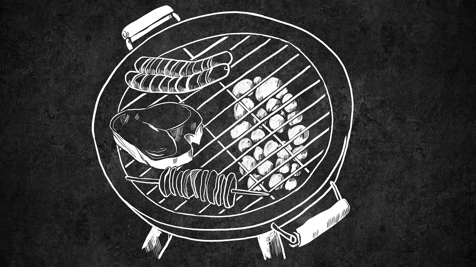 Indirektes Grillen