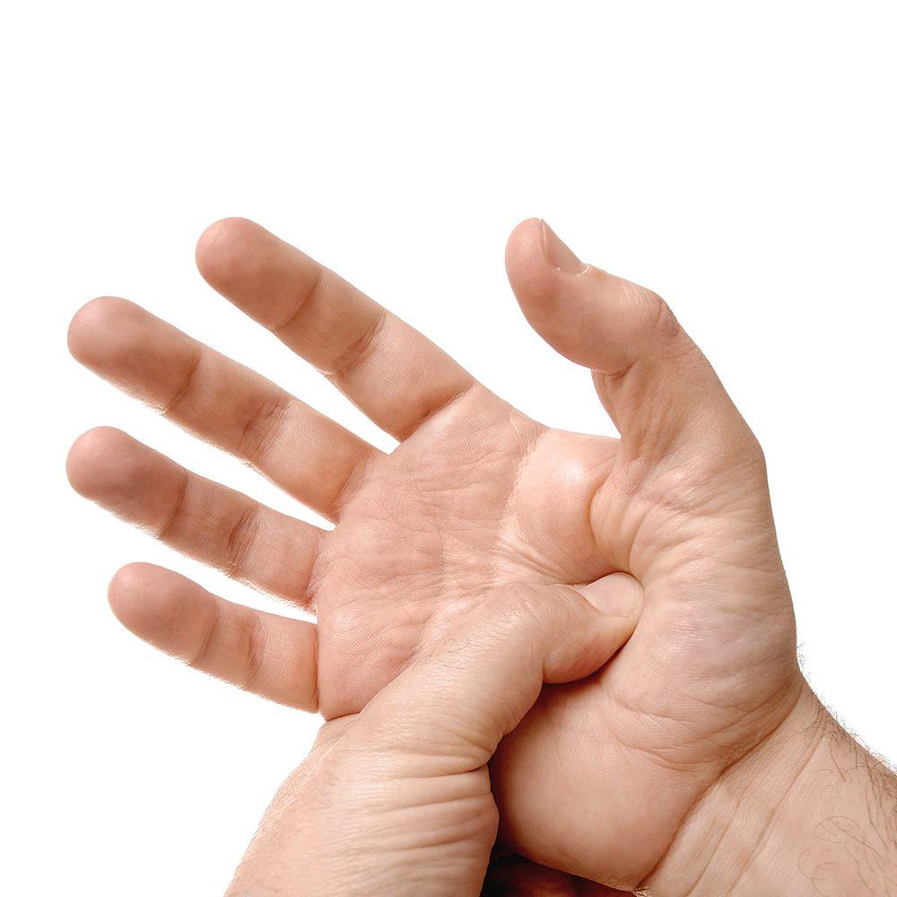 Kerntemperaturen Fingerdrucktest
